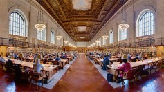 Reading room at the New York Public Library